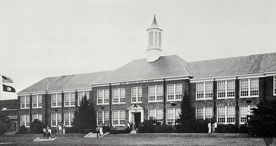 Old Mount Vernon High School, Second Whitman Intermediate School, Circa 1942